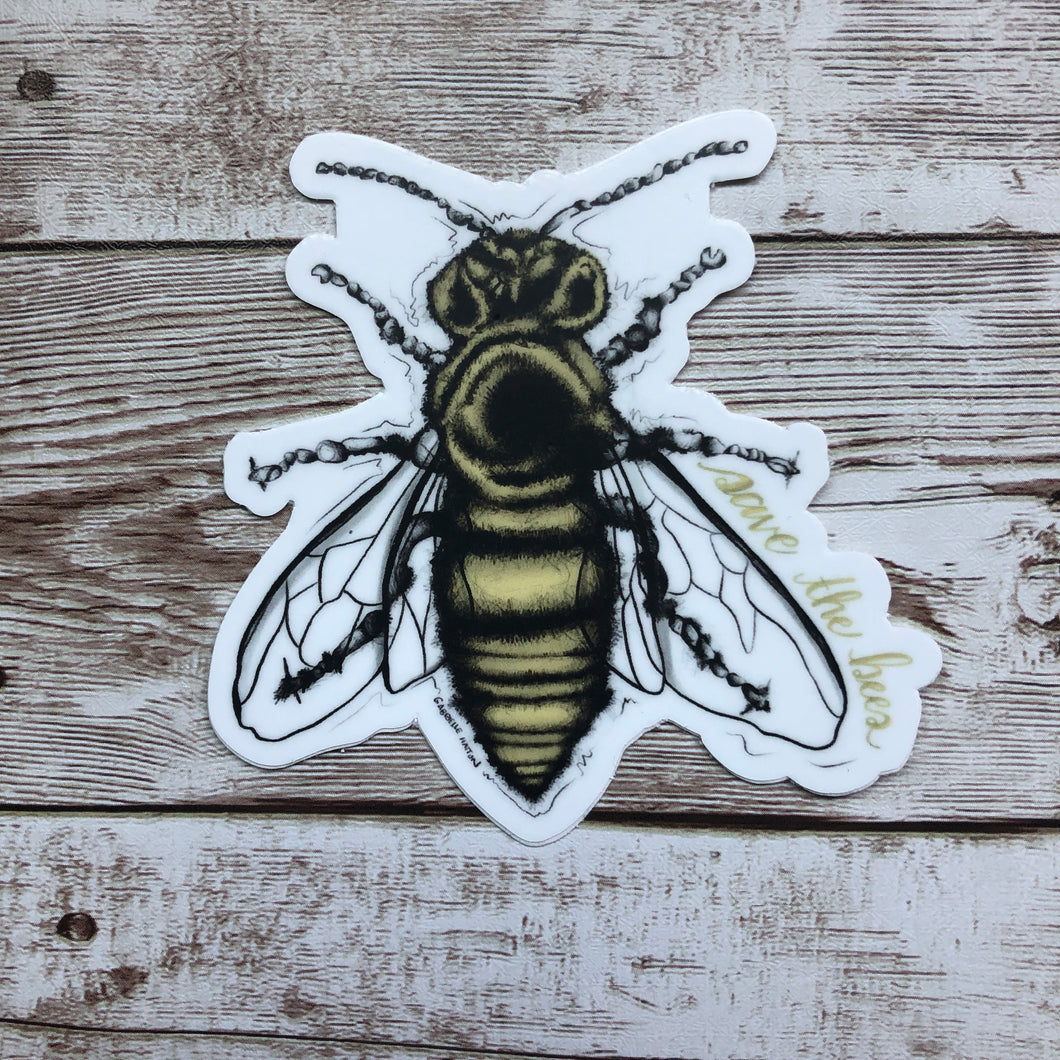 Save the Bees - Vinyl Sticker