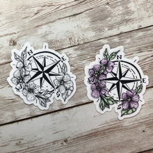 Load image into Gallery viewer, Botanical Compass - Vinyl Sticker