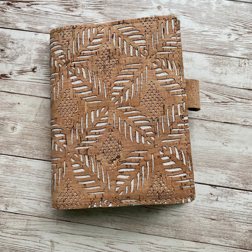 Imprinted Fronds Travelers Notebook (TN)- Cork Cover