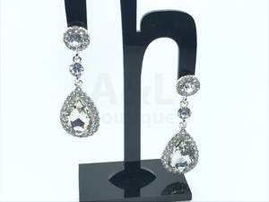 Dangling Stone Teardrop Earrings