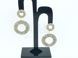 Golden Dangling Circular Stone Earring