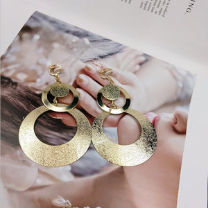 Golden  Circular Dangling Earring