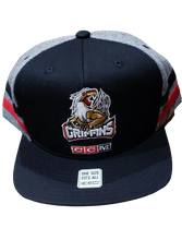 Load image into Gallery viewer, CCM HAT TWO STRIPE FLAT BRIM SNAPBACK
