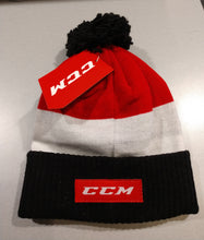 Load image into Gallery viewer, CCM  BEANIE COLOR BLOCK POM KNIT