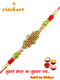 Amazing Antique Finish Designer Metal Rakhi