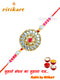 Designer Kundan Rakhi With White Stone