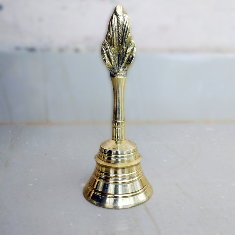 Brass Pooja Bell Small pic-5