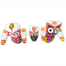 Jagannath Balabhadra Subhadra Wooden Idol 6 Inch High-pc4