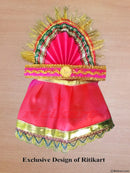 Jagannath Balabhadra Subhadra puja dress 8 inch idol-pic3