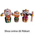 Jagannath Balabhadra Subhadra Wooden Idol 15 CMs High pic-1