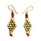 Tribal Jewelry - Golden Beads Earrings Set