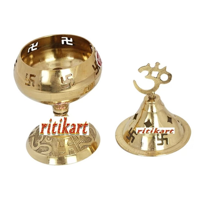 Balakati Brass Diya with cover