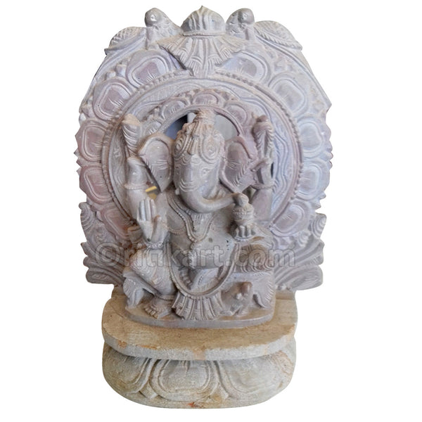 Pink Stone Meherari Lord Ganesh Work Showpiece