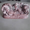 Pink Stone Anantashayana Vishnu Work Showpiece
