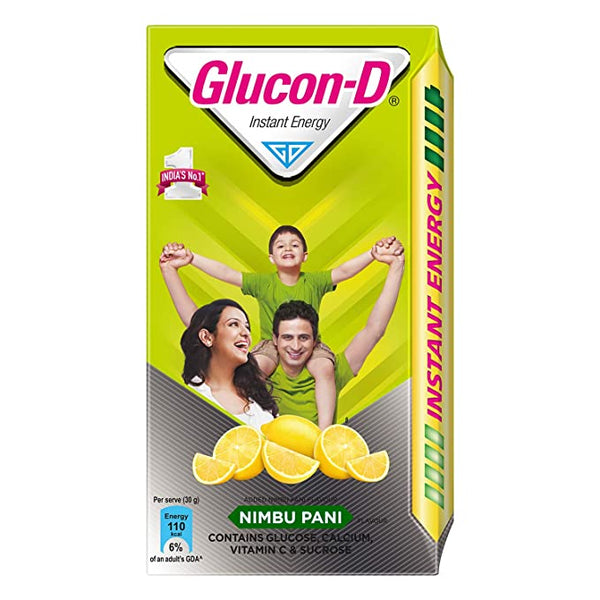 Glucon D Instant Energy Health Drink Nimbu Pani - 450gm Refill