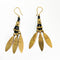 Tribal Jewelry Dhokra Golden Petal Earrings Set