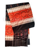 Black and Rust Color 7d Maniabandha Cotton Saree