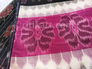 7D Black and Pink Color Maniabandha Cotton Saree Close View