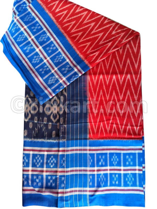 Super Body Bandha Red Color Maniabandha Cotton Saree
