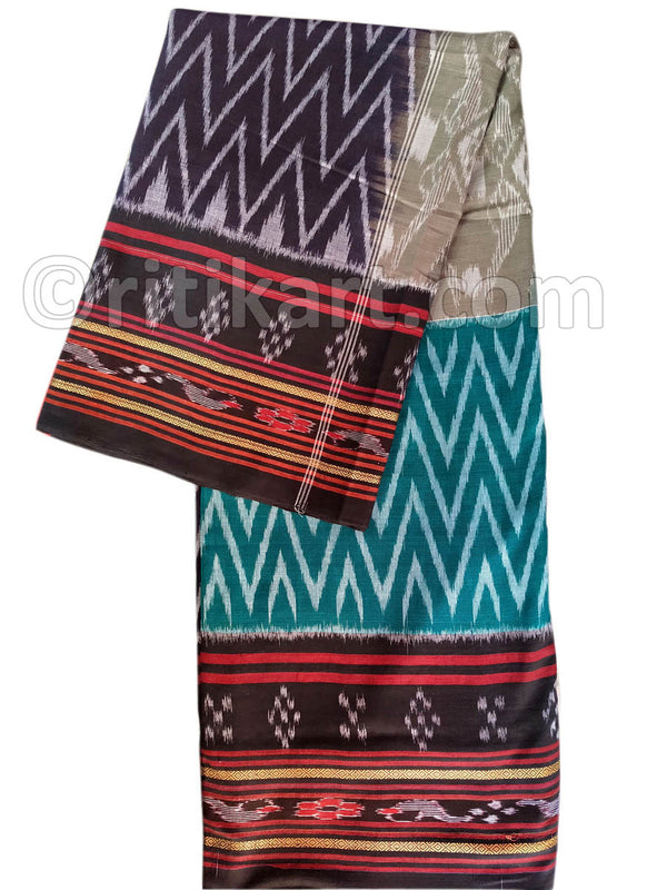 Multi Color Super Body Bandha Design Maniabandha Cotton Saree