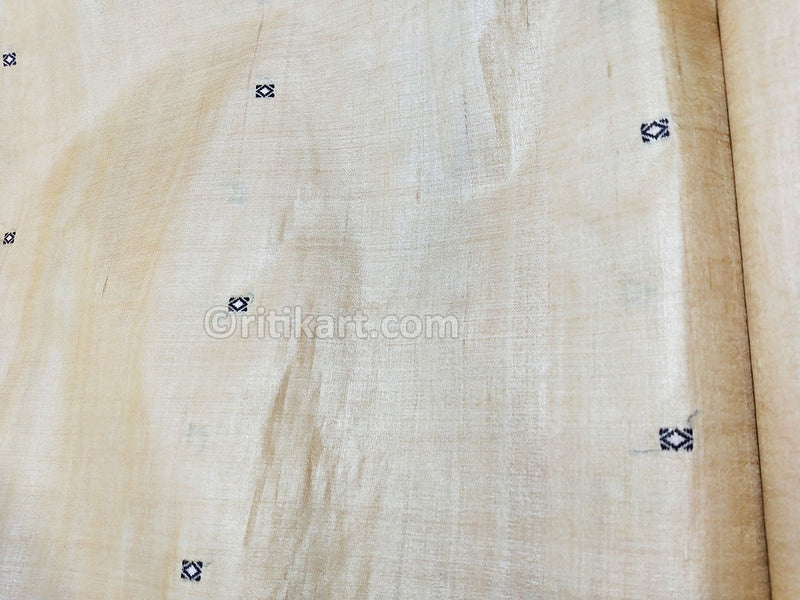 Tussar Fine Silk Raw Golden Yellow Fabric p-2