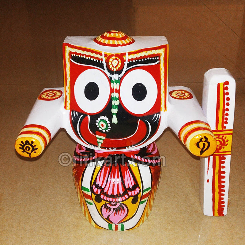 Jagannath Balabhadra Subhadra Wooden Idol 15 CMs High pic-3
