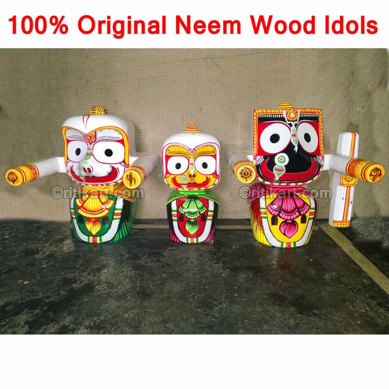 Jagannath Balabhadra Subhadra Wooden Idol 30 CMs High pic-3