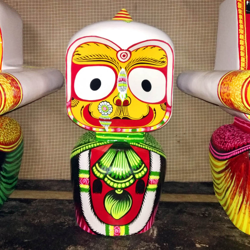 Jagannath Balabhadra Subhadra Wooden Idol 30 CMs High pic-4