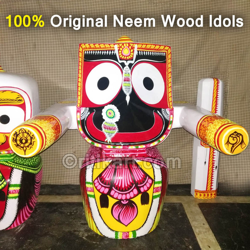 Jagannath Balabhadra Subhadra Wooden Idol 30 CMs High pic-2