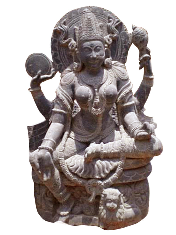 Maa Mangala Pink Stone Work Showpiece