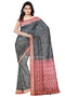 Sambalpuri Hand Woven Greeen and Maroon Sankha Design Saree