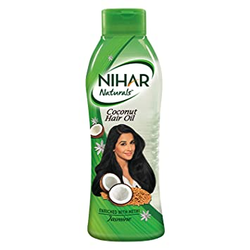Nihar Naturals Non Sticky,Coconut Hair Oil For Thick & Strong Hair, Jasmine