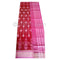 Pink And Red Square Body Design Sambalpuri Cotton Saree