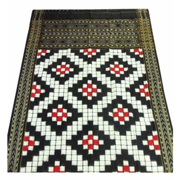 Black and white  Color with Pasapali design Sambalpuri Dupatta