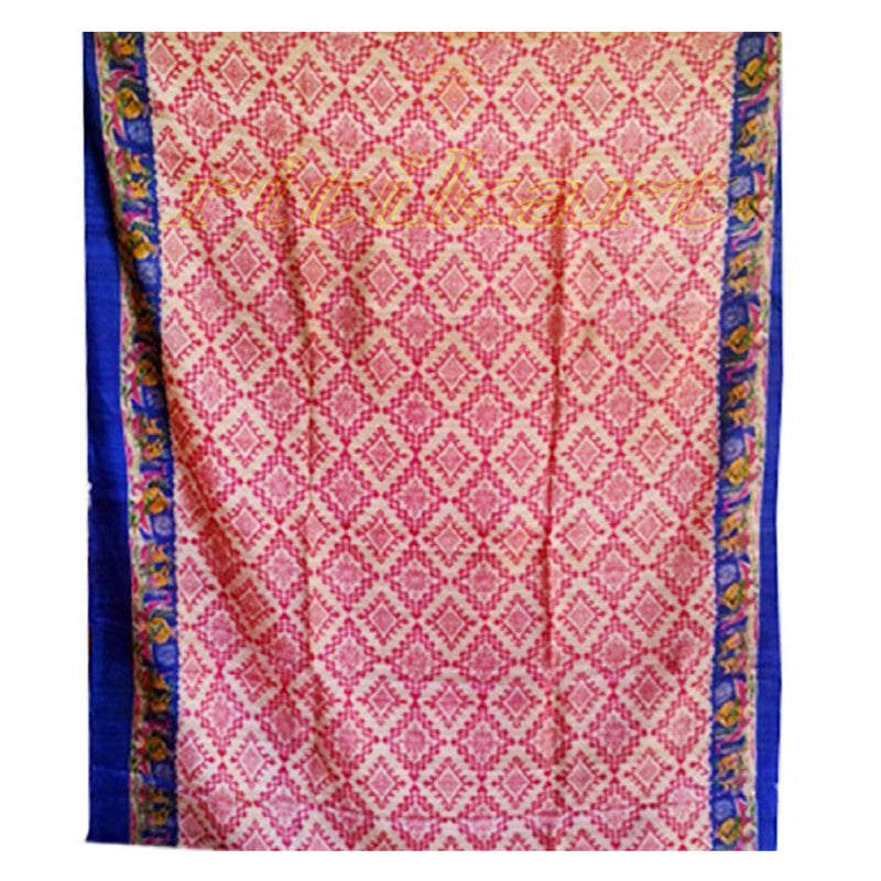 Gorgeous Hand Block Printed Tussar Silk Saree
