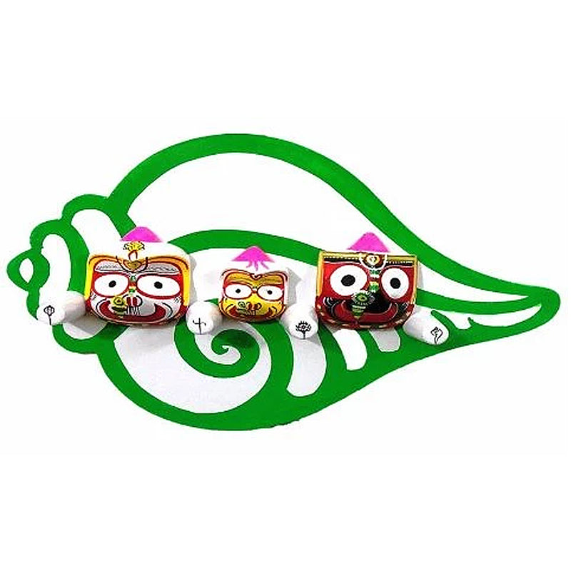 Wall Hanging wooden Jagannath Idol