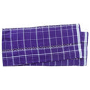 Sambalpuri Deep Blue and White Strip Cotton Lungi