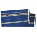 Odisha Sambalpuri Light Blue with Black and white strip Open cotton Lungi