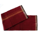 Hand woven pure cotton Maroon and Strip Gamcha