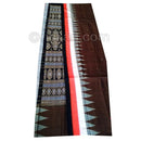 Magnificent Coffee Bomkai Sambalpuri Cotton Saree