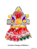 Jagannath Balabhadra Subhadra puja Mukta dress 06 inch idol