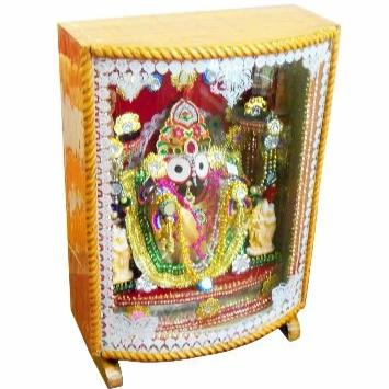 colourful lighting Jagannath Idol in wooden box