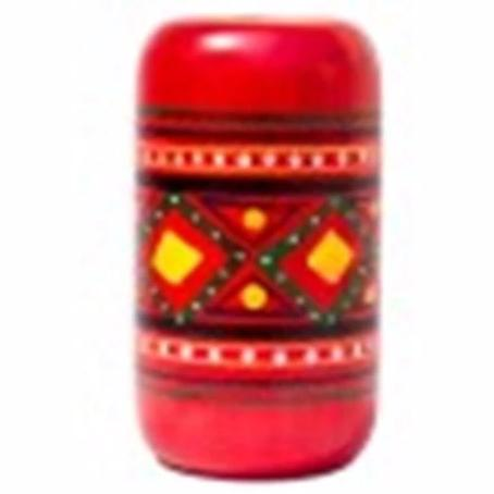 Chanapatna Wooden Pen Stand red
