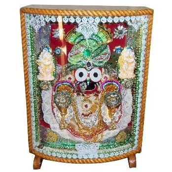 Jagannath Idol with colourful lighting Wooden Box