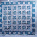 Traditional Dark Cerulean & Dark Blue-Gray Sambalpuri Double Bed Cover