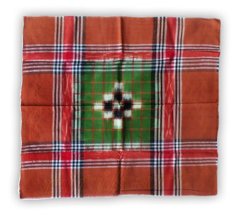 Sambalpuri Brown And GreenTraditional Rumal,
