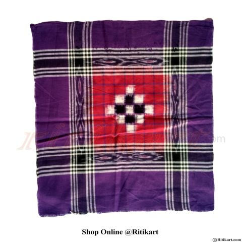 Traditional Sambalpuri Rumal Blue And Red