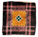 Sambalpuri Black and Yellow cotton Cushion Cover