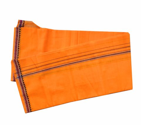 Khurda Gamuchha Orange Colour 90 CMs X 180 CMS