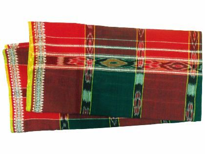 Khurda Gamucha Red and Green Colour (90 Cm X 180 Cm)